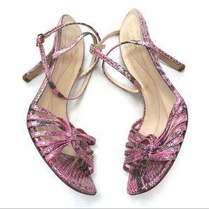 kate spade Shoes - Kate Spade Pink/Gold Snakeskin Sandals